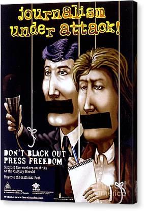 Journalism Under Attack Canvas Print