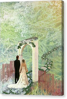 Journey Of Marriage Canvas Print by Arlissa Vaughn