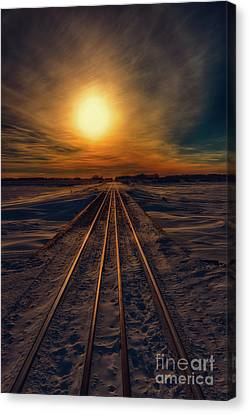 Journey To Sunset Canvas Print by Ian McGregor