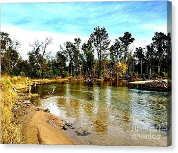 Journey To The Rivers Bend Canvas Print