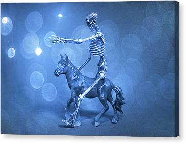 Crazy Horse Canvas Print - Journey With An Ass by Jeff  Gettis