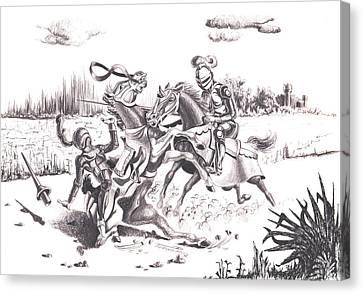 Joust Canvas Print
