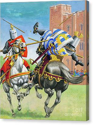 Joust Canvas Print by Pat Nicolle