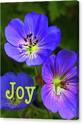 Macro Geranium Flower Canvas Print - Joy 1 by ABeautifulSky Photography by Bill Caldwell
