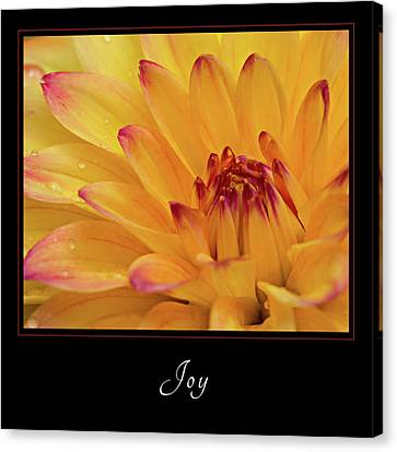 Canvas Print featuring the photograph Joy 1 by Mary Jo Allen