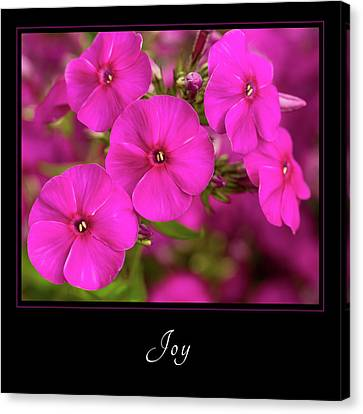 Canvas Print featuring the photograph Joy 2 by Mary Jo Allen