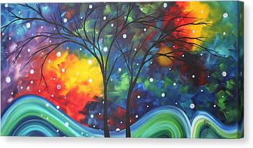 Upbeat Canvas Print - Joy By Madart by Megan Duncanson