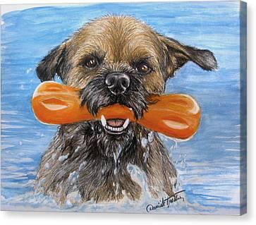 Animal Artist Canvas Print - Joy by Daniele Trottier