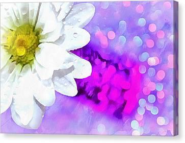 Joy Is All Around Canvas Print by Krissy Katsimbras