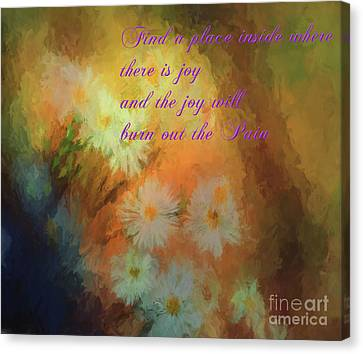 Canvas Print featuring the mixed media Joy by Jim  Hatch