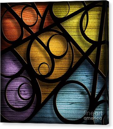 Joy-joy-joy-abstract Canvas Print by Shevon Johnson