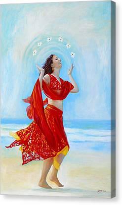 Joy Canvas Print by Michal Shimoni