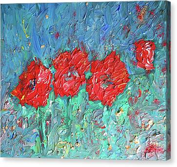 Joy Of Poppies Canvas Print by Maja Smid