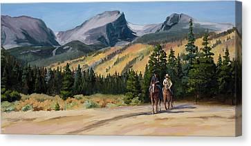 Impasto Horses Canvas Print - Joy Ride by Mary Giacomini