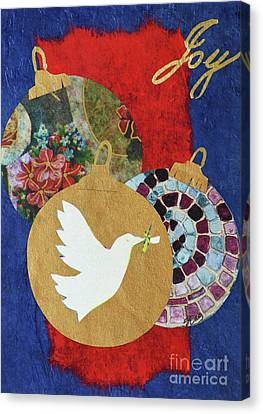 Friend Holiday Card Canvas Print - Joy  by Sharon Eng