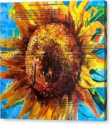 Joy - Sunflower Canvas Print by Trish McKinney