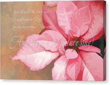 Flora Canvas Print - Joy To The World by Terry Davis