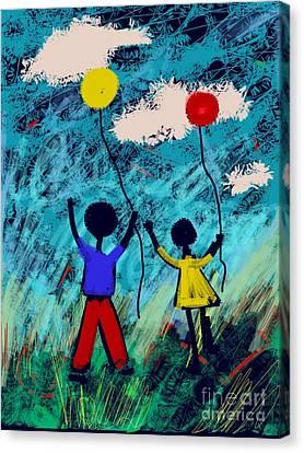 Joy Unfettered Canvas Print by Elaine Lanoue