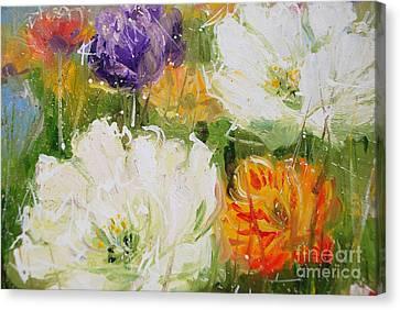 Joy With Tulips Canvas Print