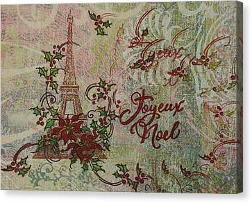 Joyeux Noel Canvas Print by Gail Kent