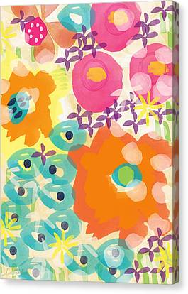 Joyful Garden Canvas Print by Linda Woods