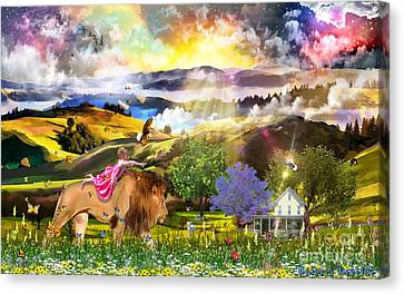 Joyful Journey  Canvas Print by Dolores Develde