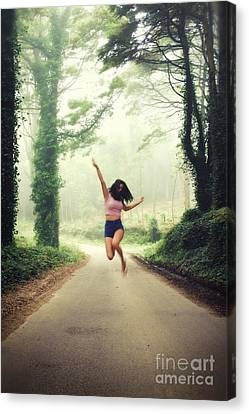 Joyful Jump Canvas Print by Carlos Caetano