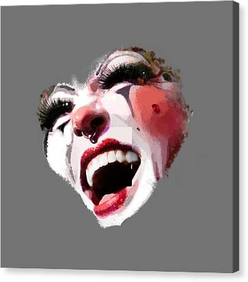 Joyful Klown Canvas Print by Eddie Rifkind
