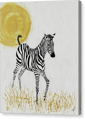 Canvas Print featuring the painting Joyful by Stephanie Grant