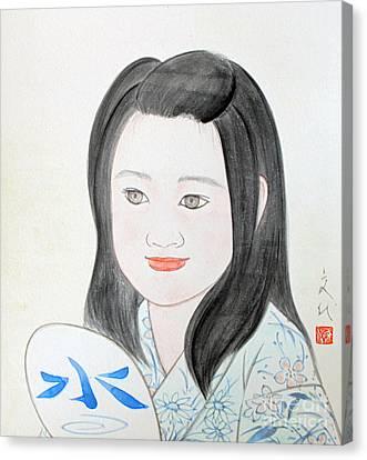 Jozen Mizu No Gotoshi Canvas Print