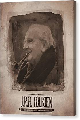 Quote Canvas Print - J.r.r. Tolkien by Afterdarkness