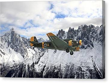 Ju52 - Alpine Passage Canvas Print by Pat Speirs