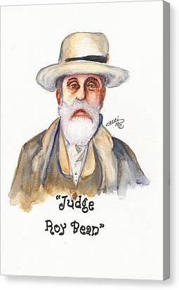 Judge Roy Bean Canvas Print