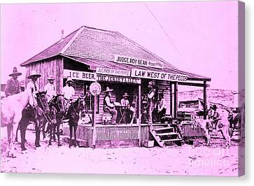Judge Roy Bean Canvas Print - Judge Roy Bean - Law West Of The Pecos by PG Reproductions