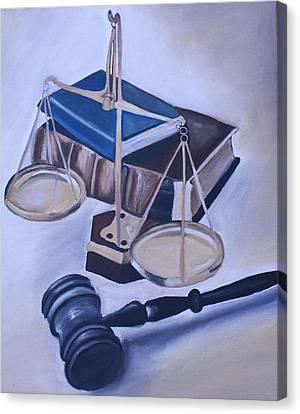 Judge Scales Canvas Print by Mikayla Ziegler