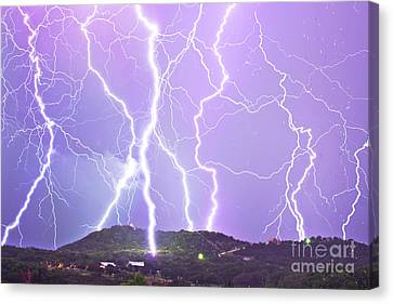 Judgement Day Lightning Canvas Print by Michael Tidwell