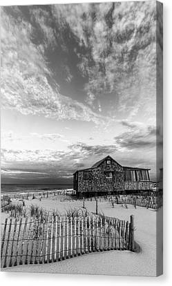 Judges Shack Nj Shore II Bw Canvas Print