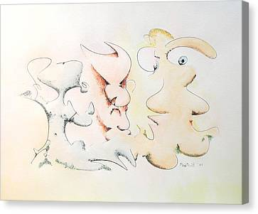 Judging Picasso Canvas Print by Dave Martsolf