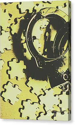 Judicial Jigsaw Canvas Print
