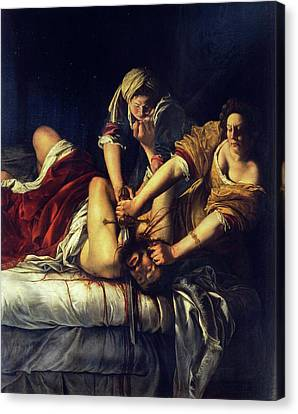 Christian Sacred Canvas Print - Judith Beheading Holofernes by Artemisia Gentileschi