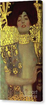 1918 Canvas Print - Judith by Gustav Klimt