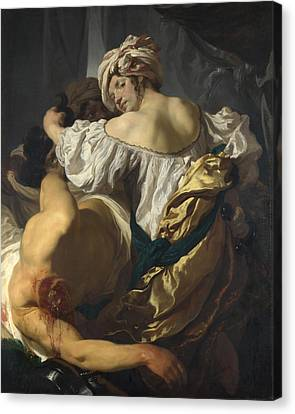 Judith In The Tent Of Holofernes Canvas Print