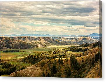 Judith River Breaks Canvas Print by Todd Klassy