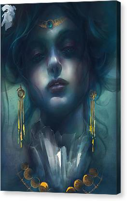 Judith V1 Canvas Print by Te Hu