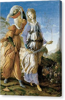 Judith With The Head Of Holofernes Canvas Print by Sandro Botticelli