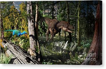Extinct Canvas Print - Judithian Montana Mural by Julius Csotonyi