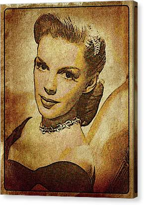 Judy Garland Vintage Hollywood Actress Canvas Print by Esoterica Art Agency