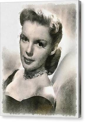 Judy Garland Vintage Hollywood Actress Canvas Print by Frank Falcon