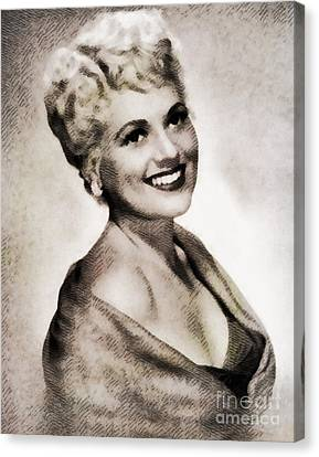 Judy Holliday, Vintage Actress By John Springfield Canvas Print by John Springfield