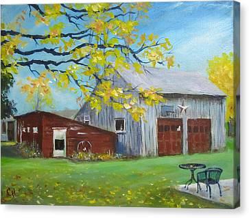 Judy's Barn Canvas Print by Carol Hart